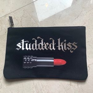 Kat Von D Black Studded Kiss Lipstick Makeup Bag